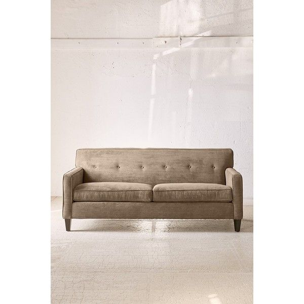 Ethan Ribbed Corduroy Sofa ($998) ❤ liked on Polyvore featuring home, furniture, sofas, taupe, tan couch, corduroy sofa, corduroy couch, urban outfitters and taupe sofa