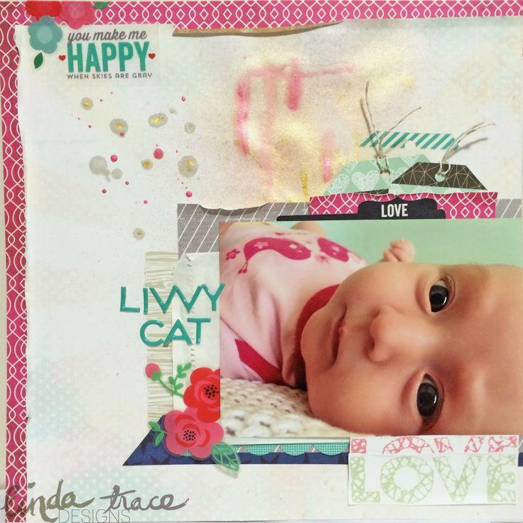 Livvy Cat by Linda Trace using Polly! Scrap Kits May Palm Tree scrapbooking kit #pollyscrap
