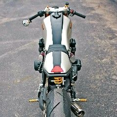 1981 Honda CB750 by BBCR modern-cafeTech specs: Ducati Single sided swingarm and mono shock. Marchesini front and rear wheels. 2014 Yamaha R6 front end with forks,brakes and controls. Custom 4 in 1 …