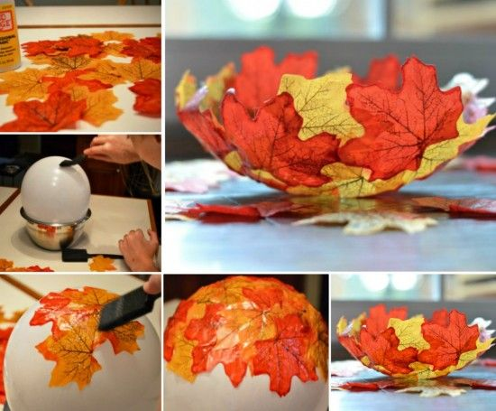 Autumn Leaf Bowl Is A Super Easy Craft