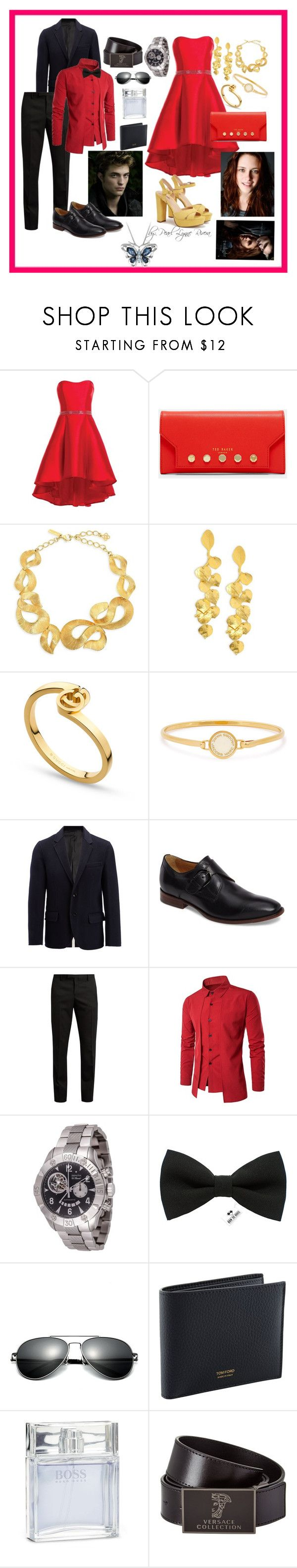 """Ynallection - Twilight fan"" by pearllynnerivera on Polyvore featuring Alyce Paris, Ted Baker, Oscar de la Renta, Kenneth Jay Lane, Gucci, Marc Jacobs, Joseph, Johnston & Murphy, Yves Saint Laurent and Zenith"