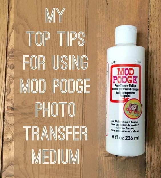 mod podge photo transfer instructions