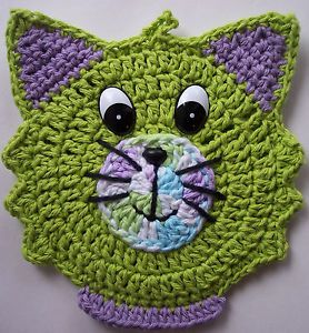 Crochet Cat Potholder Decoration