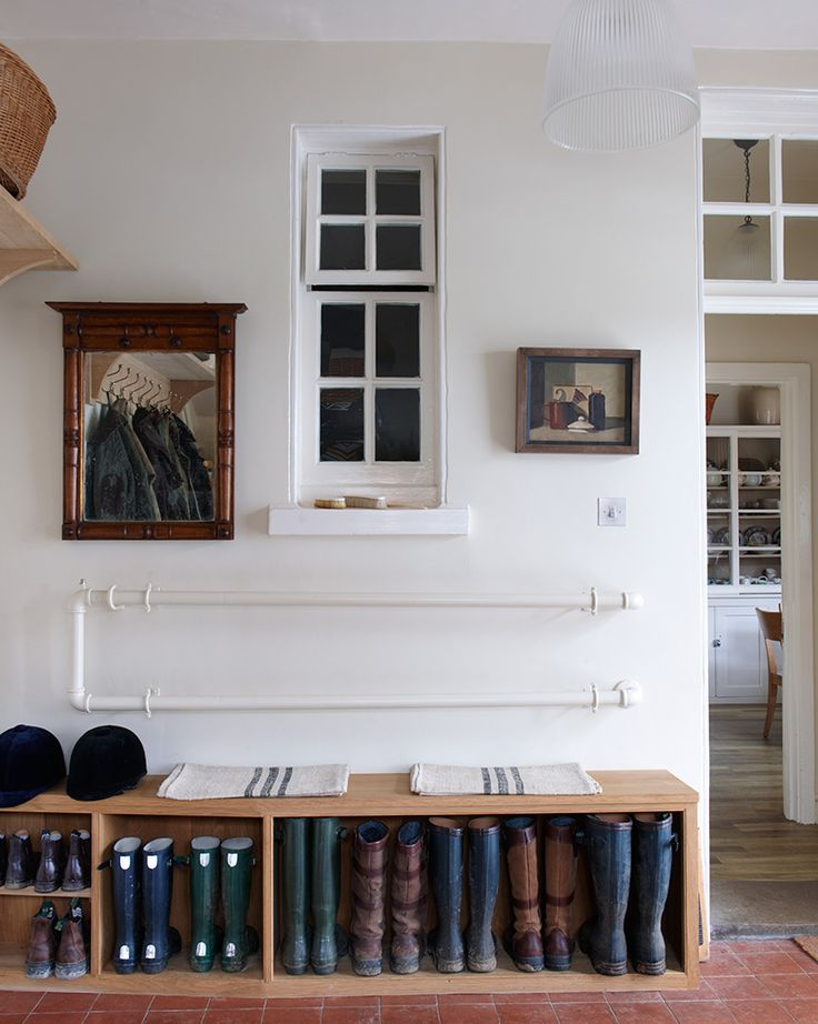 COUNTRY HOUSES ∙ Suffolk - Todhunter Earle - good welly storage. Oh for a mud room!
