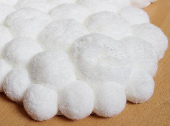 Blanc de Pom Pom tapis pépinière blanc tapis par PomPomMyWorld