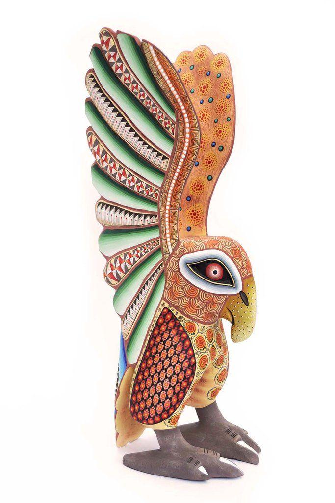 Águila Emprende el Vuelo JS - Una de nuestras más queridas piezas de la colección de escultura popular de #SanMartínTilcajete, #Oaxaca. Orgullosamente #HechoenMéxico  #Mexico #HechoaMano #DF #CDMX #MAdera #MaderaTallada #Alebrijes #Tonas #Wood #Woodcarving #Carving #CarvedWood #MAdeinMexico #HandMade #ArtePopular #FolkArt #MexicanFolkArt #ArtePopularMexicano