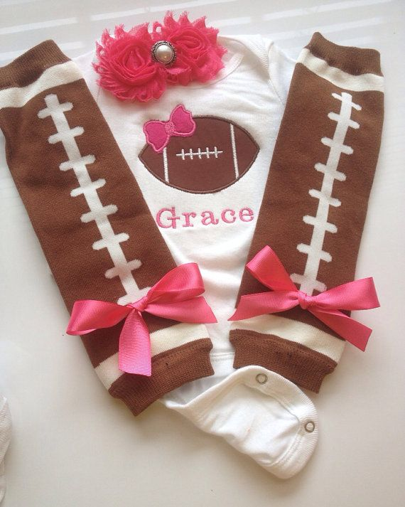 Baby Girl Football Outfit by AboutASprout on Etsy, $43.00