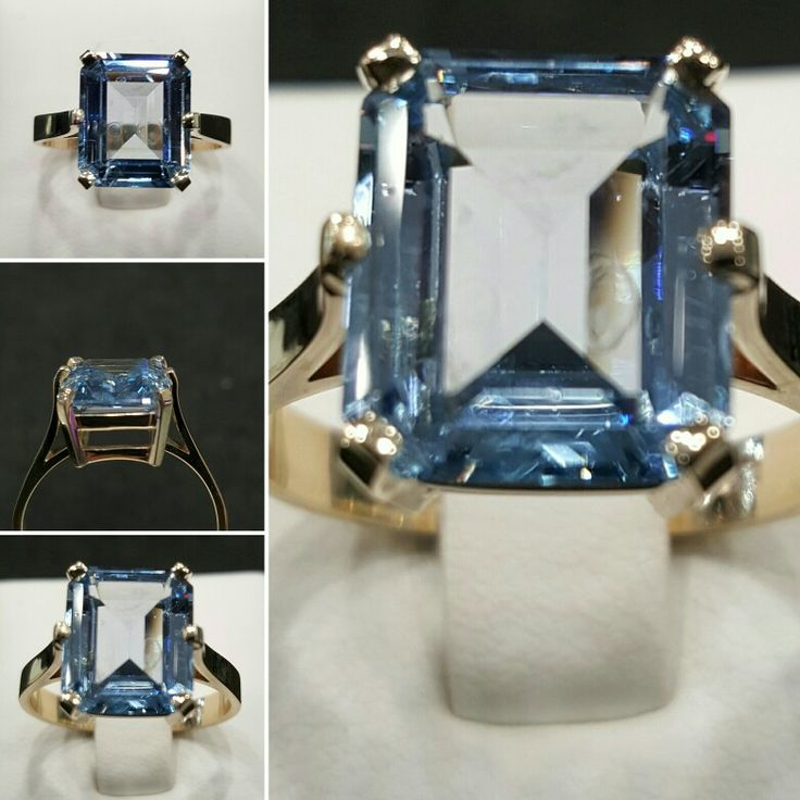 Blue Topaz custom made ring