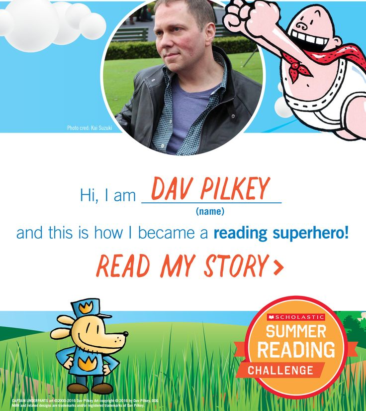 Dav Pilkey is a Reading Superhero! Click through to learn fun facts about the author! #summerreading