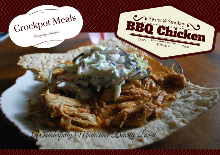 THM Sugar Free Sweet and Smokey BBQ Chicken from the crockpot {THM~S, Low Carb, Low Fat, THM E}
