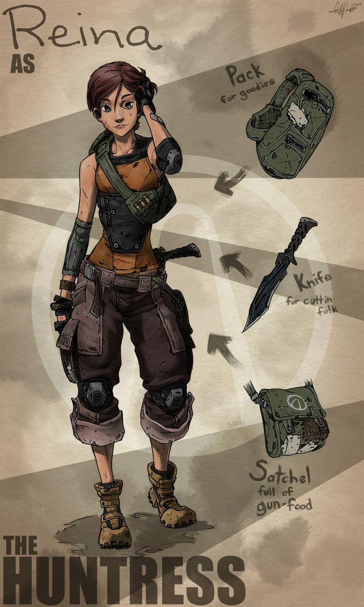 Borderlands OC The Huntress by *TekkaCroe on deviantART