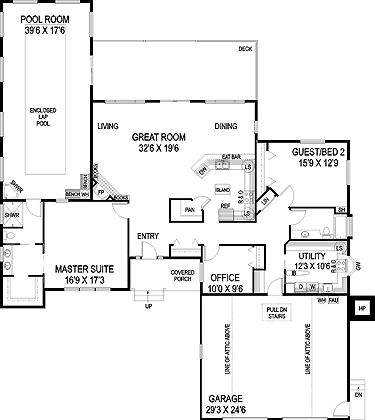 Floor Plans   1 Story Prairie Style House Plans Home With 2 Bedrooms, 2  Bathrooms And Total Square Feet