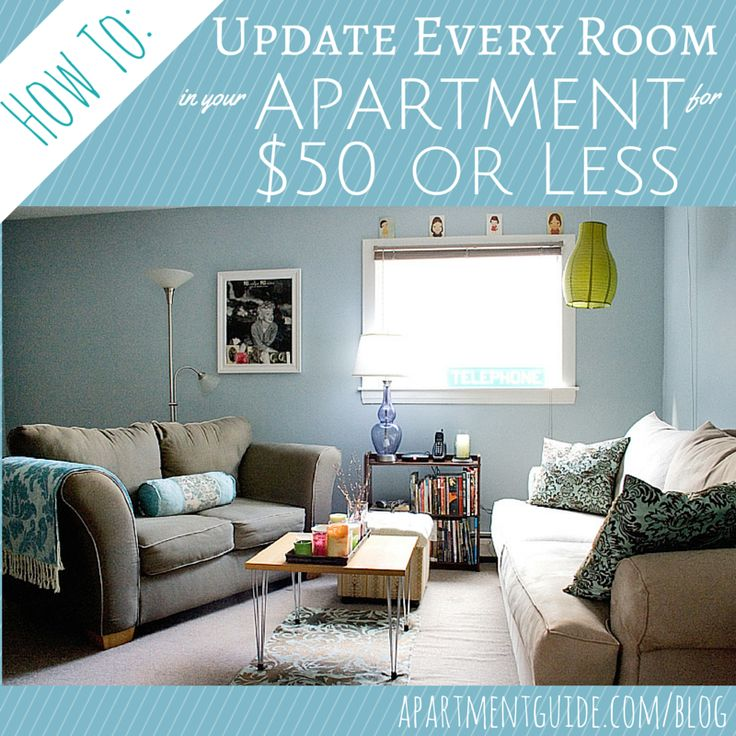 Here's how to update each room in your apartment for $50 or less.