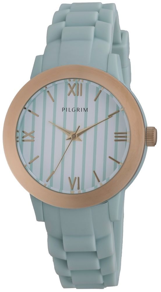 Pilgrim Jewellery stylish Blue Silicone & Gold Plated Ladies Watch in Gift Box