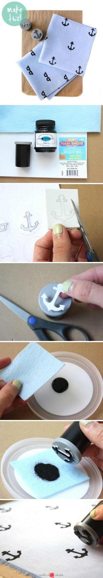 DIY Stamp + Ink ( perfect to match those Honest Anchor Diapers!)