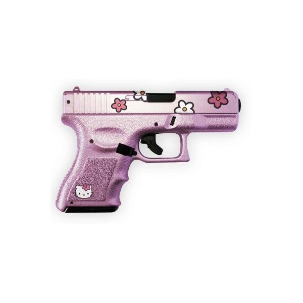 Hello Kitty Pink Gun Hello Kitty Hell ❤ liked on Polyvore