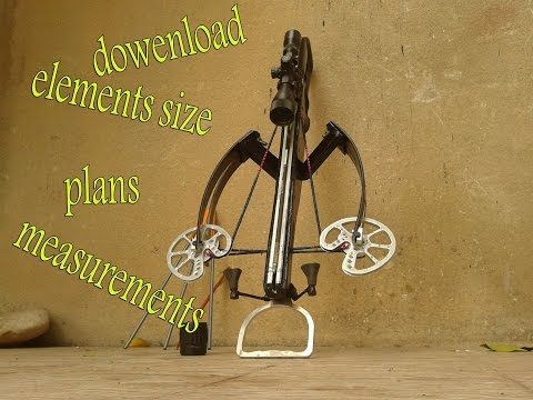 homemade revers crossbow plans and elements measurements - YouTube