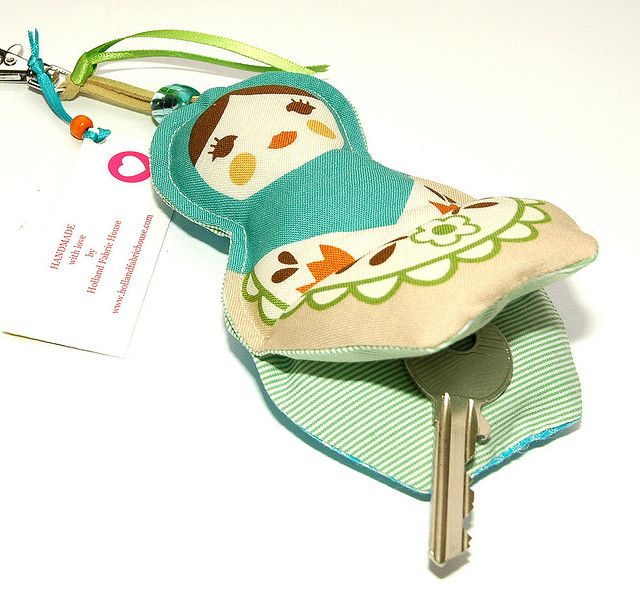 Babushka key ring by Holland Fabric House, via Flickr