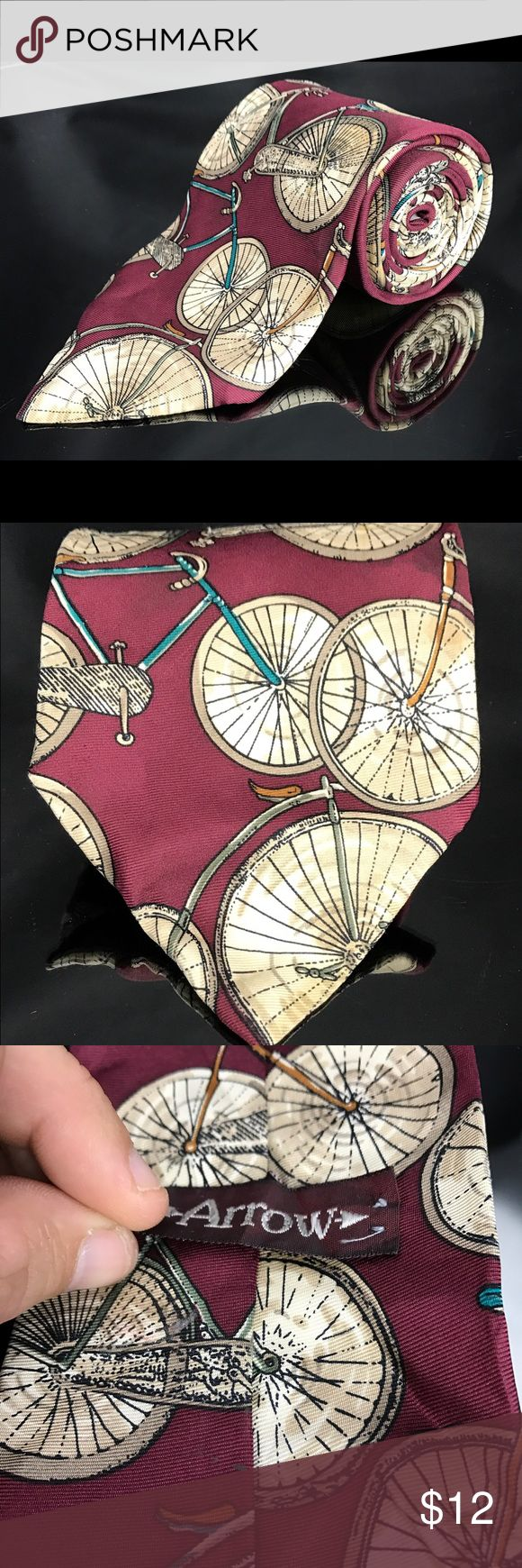 URBAN ARROW Bicycle Novelty Tie You Are Buying A URBAN ARROW Bicycle Novelty Tie 