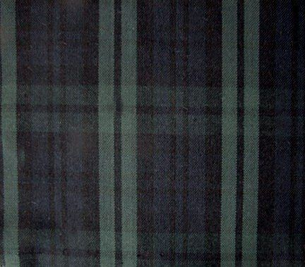 Black Watch Tartan Plaid Fabric For Home Decorating Tablecloth Green Blue Black