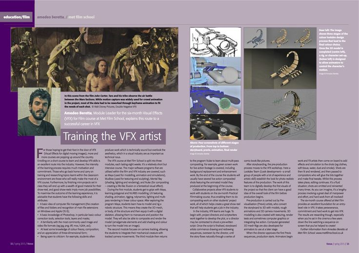 Training the VFX artist- our tutor Amadeo explains the route to a successful career in VFX