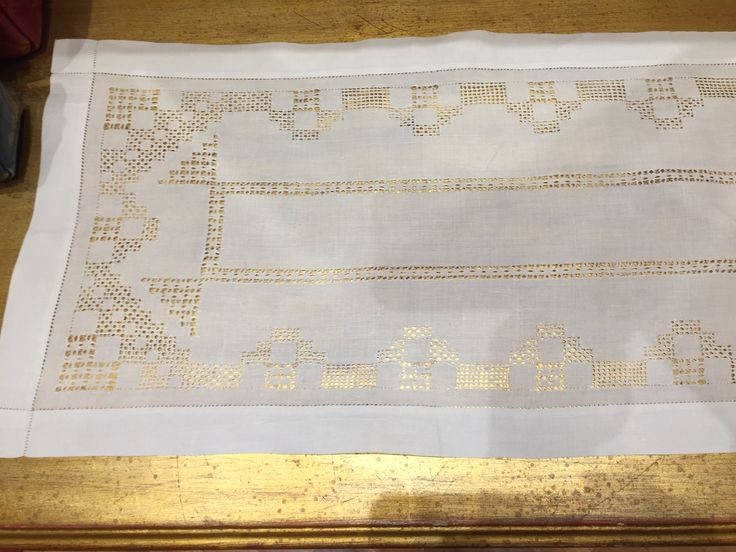 A personal favourite from my Etsy shop https://www.etsy.com/uk/listing/537404481/vintage-table-runner-irish-linen-hand