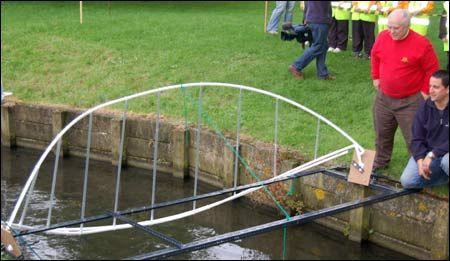 Model of the Gateshead Millennium Bridge