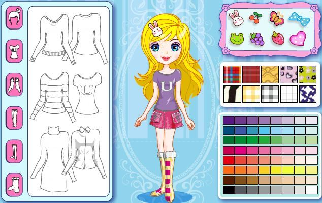 Jogos de colorir online: Cindy's Polychrome Habiliment Dress Up
