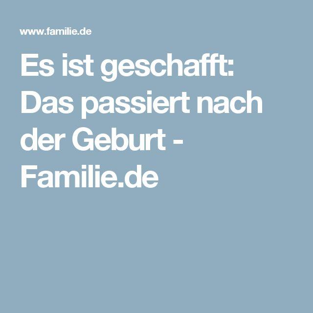 Es ist geschafft: Das passiert nach der Geburt - Familie.de
