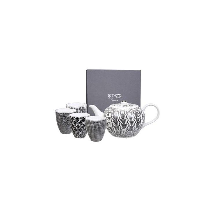 Tetera nippon black con 4 tazas | Tokyo Design