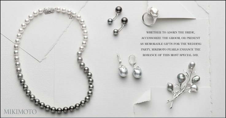 Whether to adorn the bride, accessorize the groom, or present as a memorable gifts for the wedding party, Mikimoto pearls enhance the romance of this most special day.