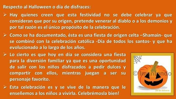 #FelizTarde, el sábado es #Halloween o #DíadeDisfraces, mucho se dice acerca de esta celebración.