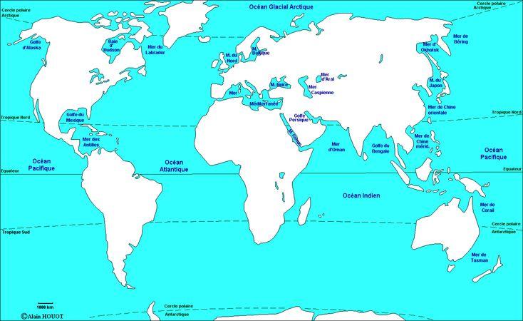 Ateliers de géographie : les mers et les océans - La classe d'Eowin