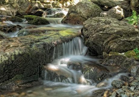 'La magia dell'acqua' - Rio a valle della cascata della marina presso il vallone dei Bagni di Vinadio
