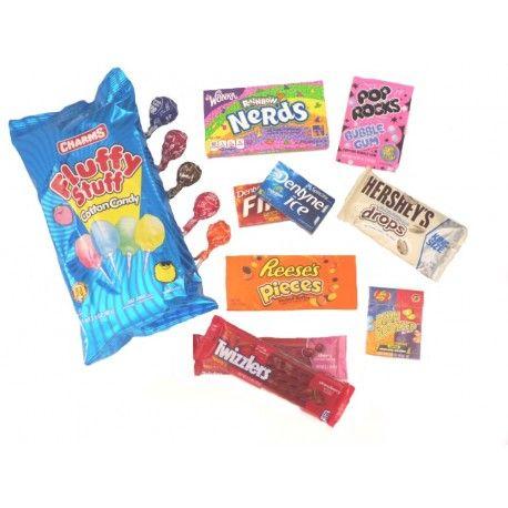 Pack découverte bonbons américains : 24.75€ TTC. Livraison 24/48h en France