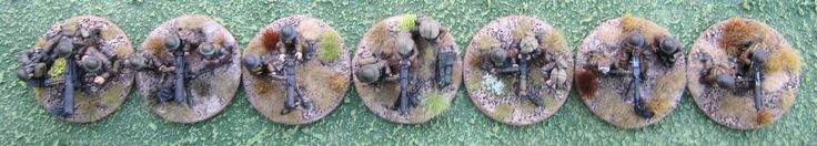 Great War Vickers Machine-Gun Comparison Pics.  From left to right: REnegade Miniatures, Brigade Games, 1st Corps, Great War Miniatures, Old Glory, Gripping Beast/Woodbine Designs, Wargames Foundry.