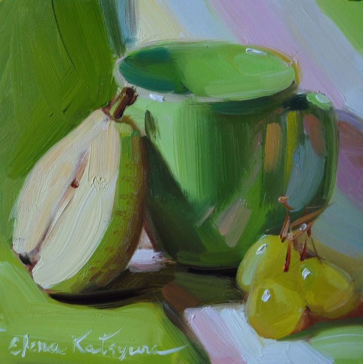 Still Life in Green Paintings by Elena Katsyura: July 2012