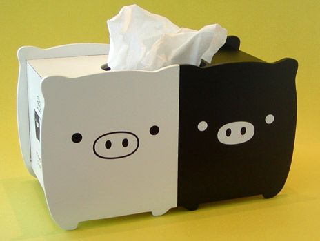 Monokuro Boo Tissue Box Cover