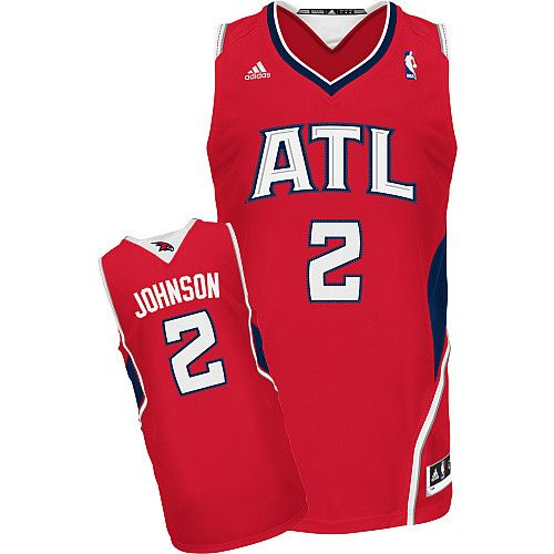 Atlanta Hawks Joe Johnson 2 Red NBA Authentic Jersey Sale