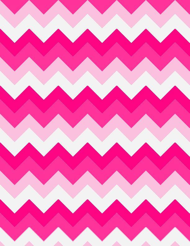 Pretty In Pink Chevron Background