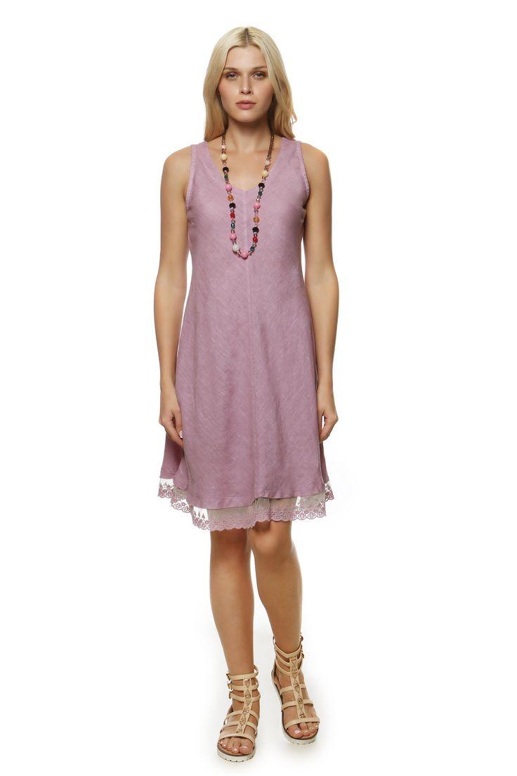 Linen Dress 984 http://eshop.hariscotton.gr/