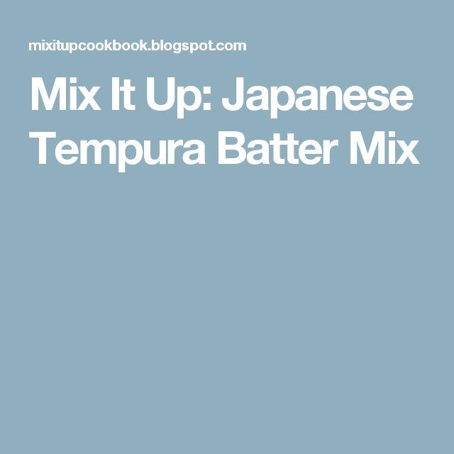 Mix It Up: Japanese Tempura Batter Mix