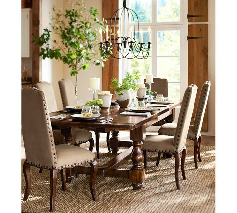 Armonk 6 Arm Chandelier | Pottery Barn   Dining Room Style Light