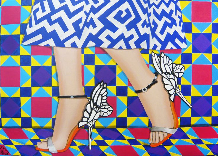 Butterfly Shoes acrylic on canvas 70x50 cm 2016