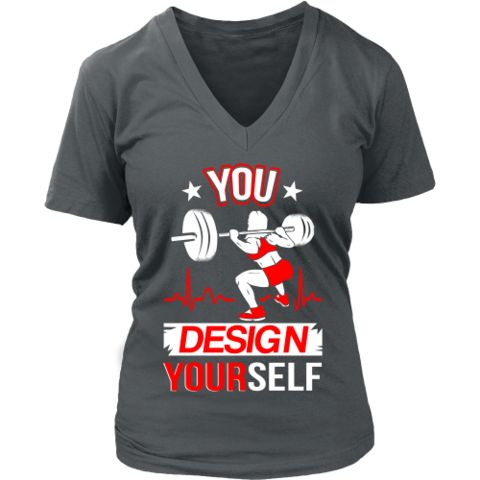 Bodybuilding - Lifting 'Design Yourself' District Women's V-Neck