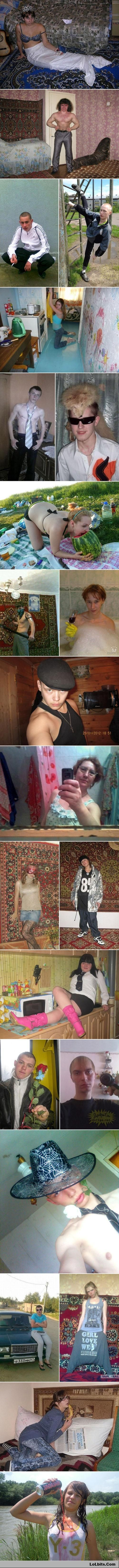 Weird pictures from Russian dating sites
