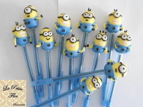 Lapiceras Infantiles Cumpleaños Souvenirs Animales Porcelana