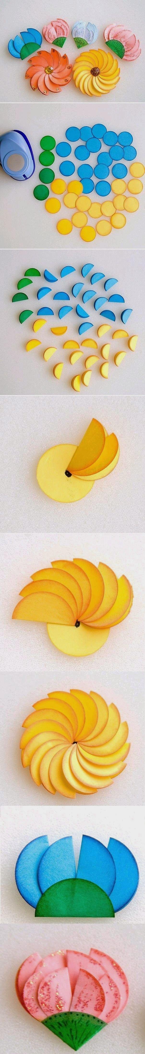 DIY : Paper Circle Flower