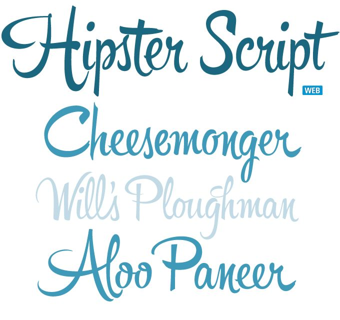 The award-winning Hipster Script by Alejandro Paul is based on a style of hand lettering that was created for advertising in the 1940s and 1950s yet stills looks fresh today.