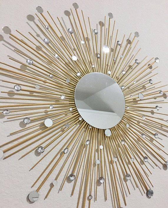 30 Glamorous Sunburst Mirror Starburst Mirror Mirror Wall Decor Sun Mirror Gold Sunburst Mirror Wall Decor Home Decor Wall Decor Crafts Mirror Crafts Starburst Mirror
